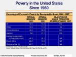 poverty in the united states since 1960