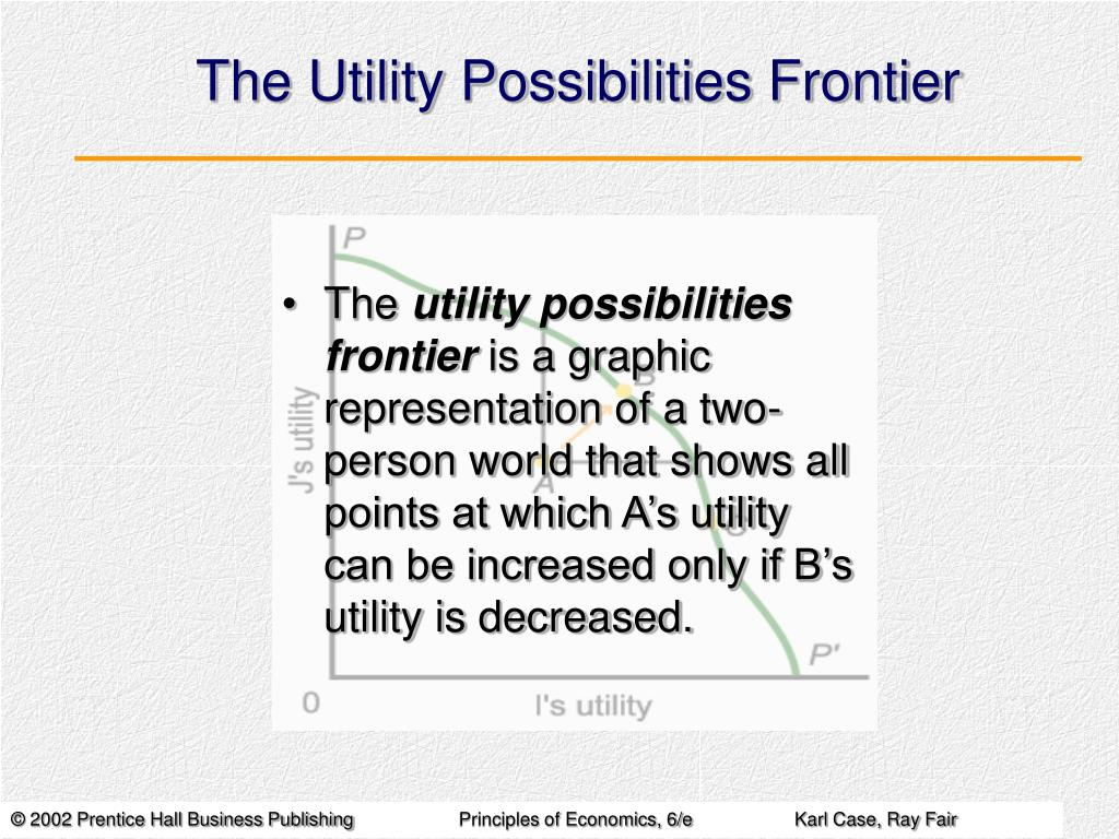 the utility possibilities frontier l.