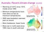 australia recent climate change csiro