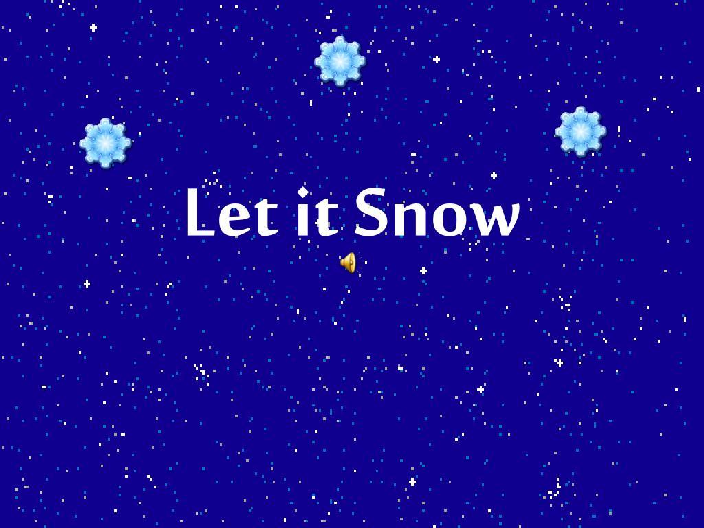 let it snow l.