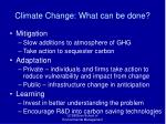 climate change what can be done