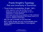 frank knight s typology risk and uncertainty in economics