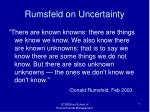 rumsfeld on uncertainty