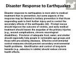 disaster response to earthquakes