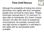 time until rescue