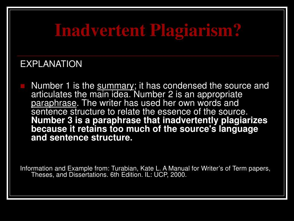 Ppt Plagiarism Powerpoint Presentation Free Download Id 342071 A Paraphrase Condense Information From Source