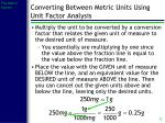 converting between metric units using unit factor analysis