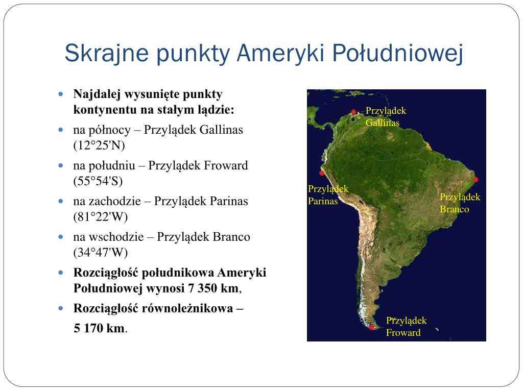 Skrajne punkty Ameryki Południowej