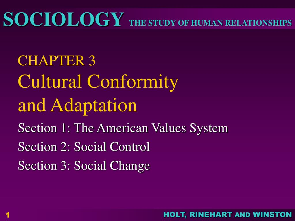 chapter 3 cultural conformity and adaptation l.