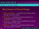 main sources of social change
