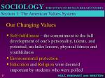 our changing values