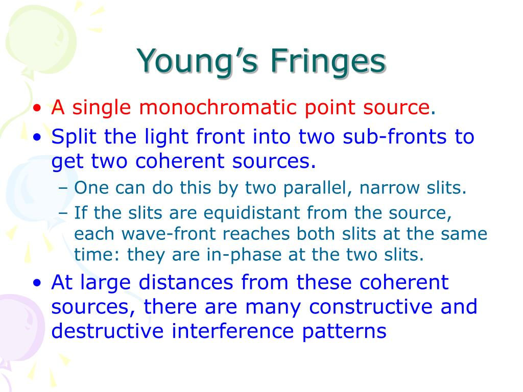 young s fringes l.