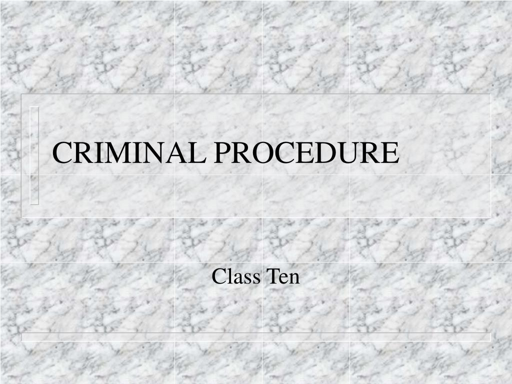 criminal procedure l.