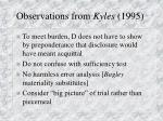 observations from kyles 1995