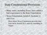 state constitutional provisions