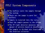 fplc system components