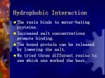 hydrophobic interaction