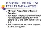 resonant column test results and analyses