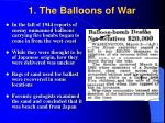 1 the balloons of war