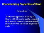 characterizing properties of sand4