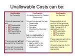 unallowable costs can be