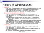 history of windows 2000