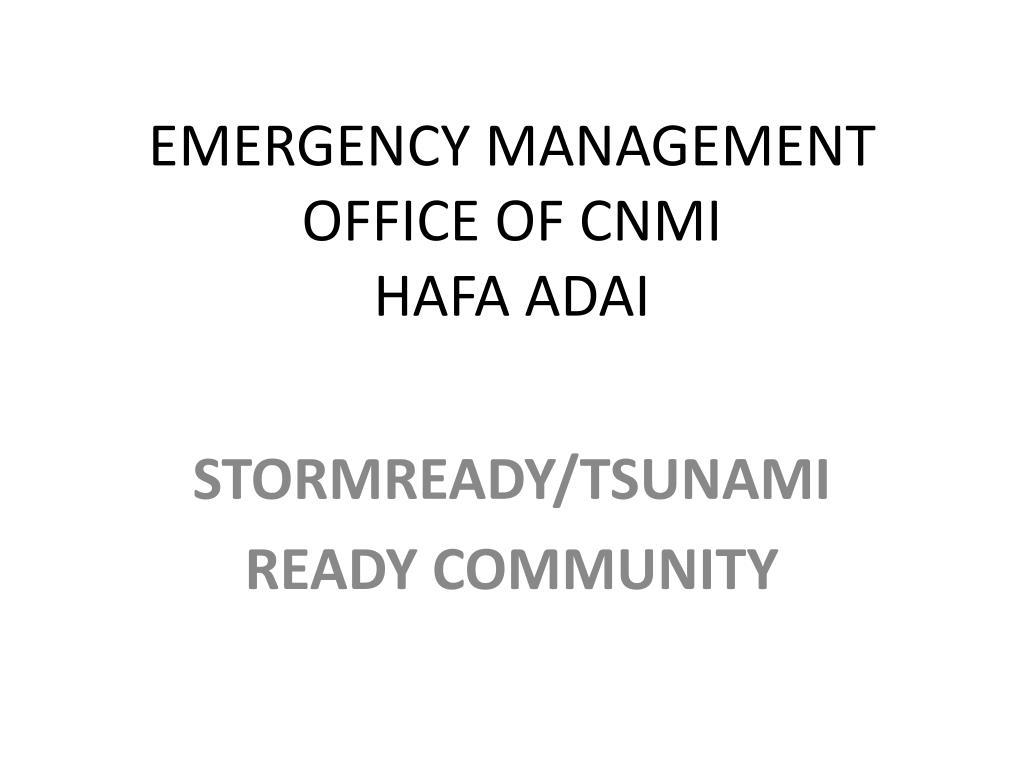 emergency management office of cnmi hafa adai l.