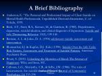a brief bibliography