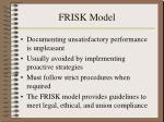 frisk model