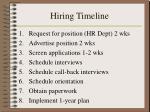hiring timeline
