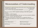 memorandum of understanding13