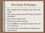 recruiting techniques