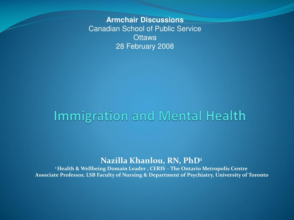 immigration and mental health l.