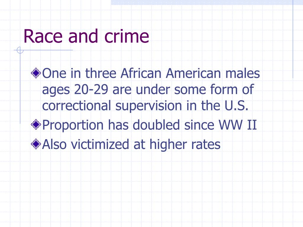 race and crime l.