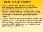 race culture ethnicity