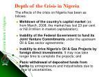 depth of the crisis in nigeria