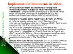 implications for investments in africa