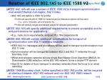 relation of ieee 802 1as to ieee 1588 v2