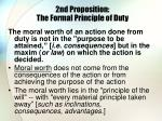 2nd proposition the formal principle of duty