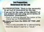 3rd proposition reverence for the law