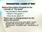 immanuel kant a matter of duty