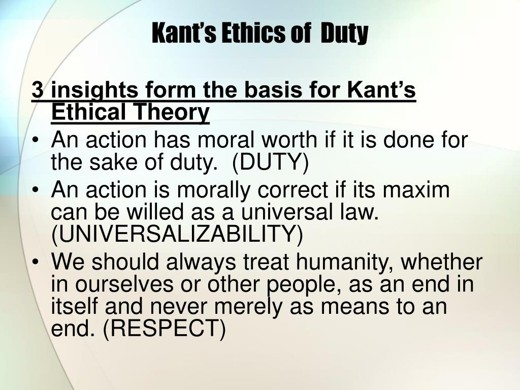 kant s ethics of duty l.