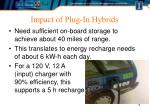 impact of plug in hybrids