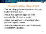 on board battery management