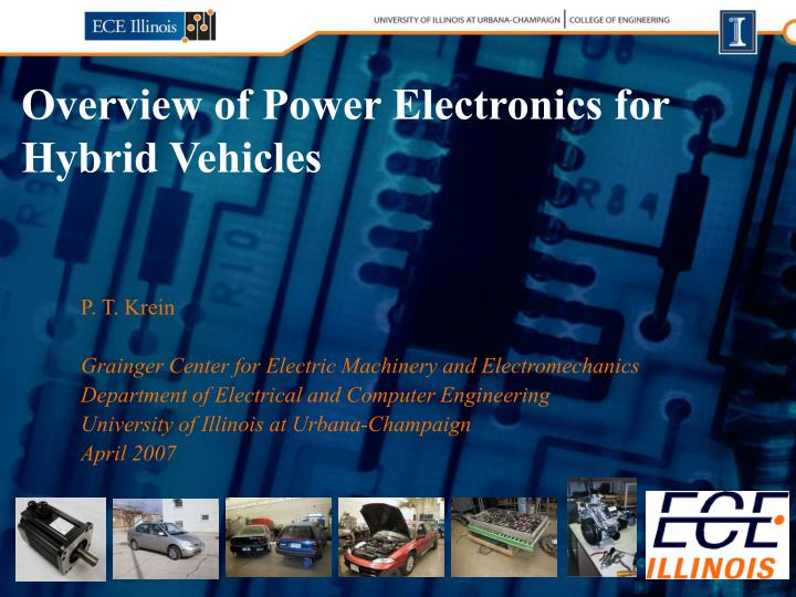 overview of power electronics for hybrid vehicles n.
