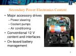 secondary power electronics content