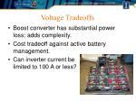 voltage tradeoffs
