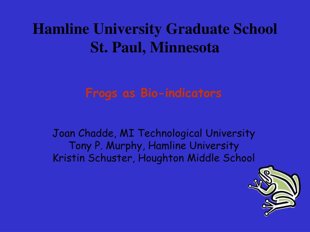 hamline university graduate school st paul minnesota l.