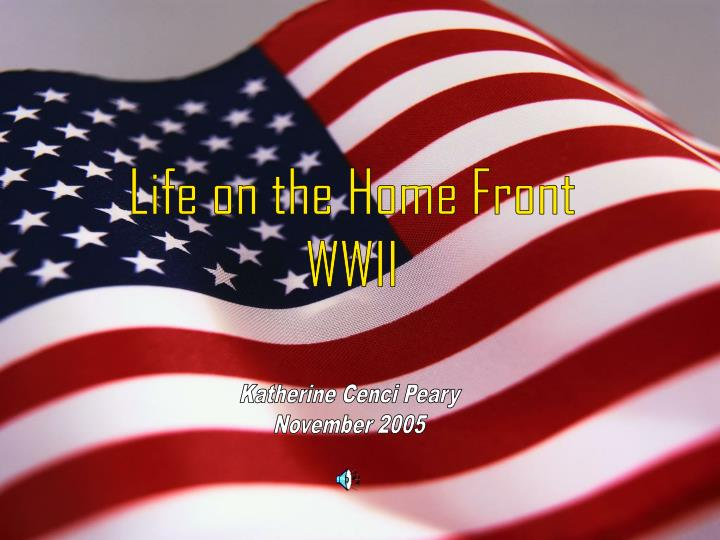 life on the homefront wwii n.