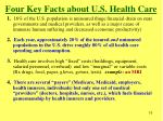 four key facts about u s health care